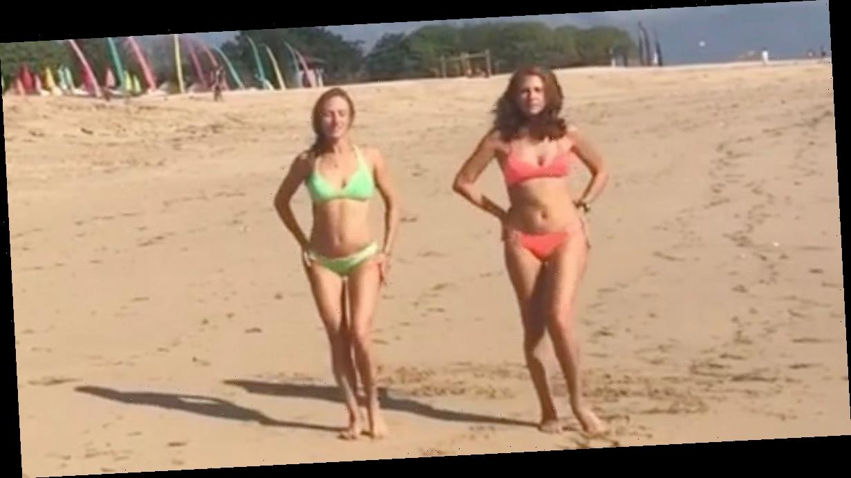Russian Olympic swimmer performs cheeky bikini dance with 'gorgeous' mum