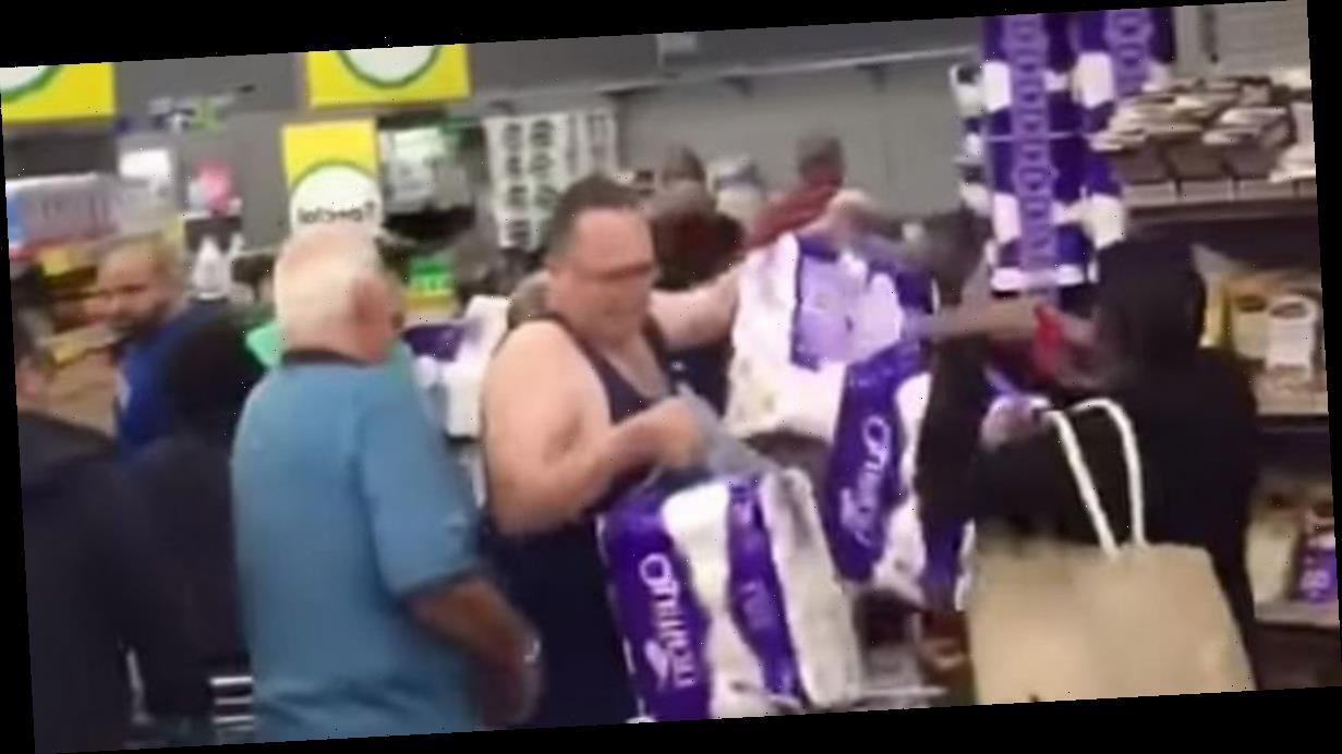 Shopper 'draws knife' in fight over toilet paper amid coronavirus stockpiling