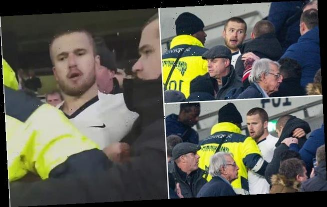 Dier jumps into the crowd to FIGHT a Spurs fan after FA Cup loss