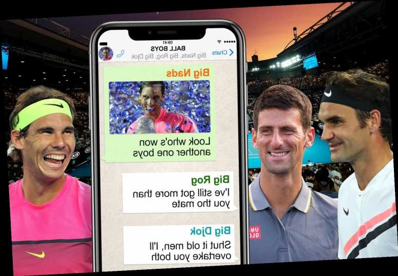 Rafa Nadal reveals he has WhatsApp group with rivals Roger Federer and Novak Djokovic which three chat in – The Sun