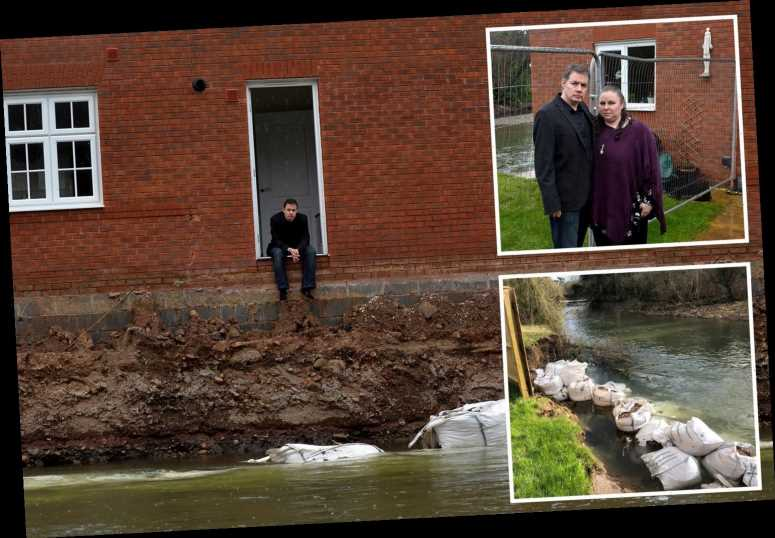 Couple and daughter, 7, homeless after river bank collapses around their £400K dream house – The Sun
