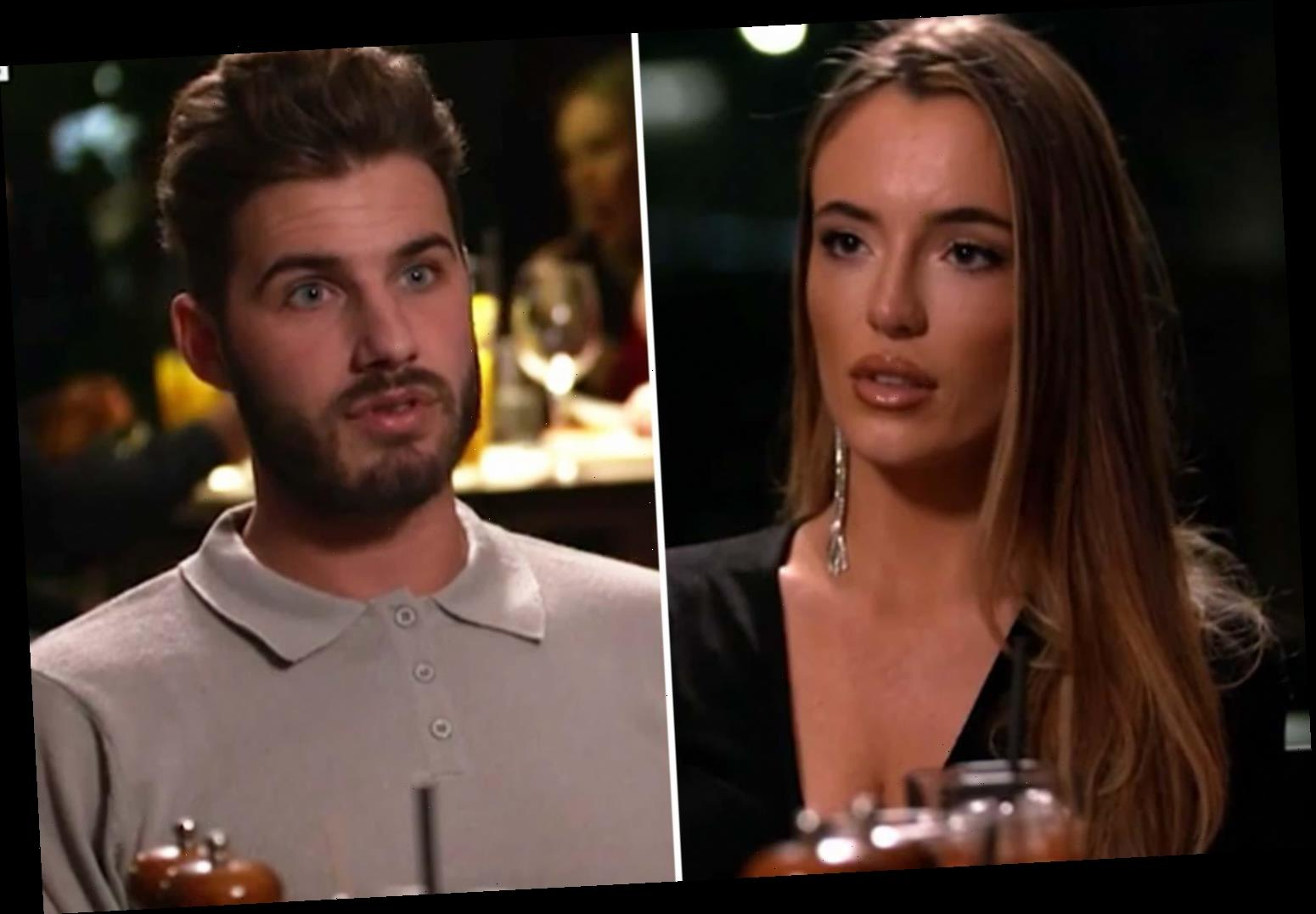 Josh Ritchie mortified as he's caught lying about going to a strip club after date on Celebs Go Dating – The Sun