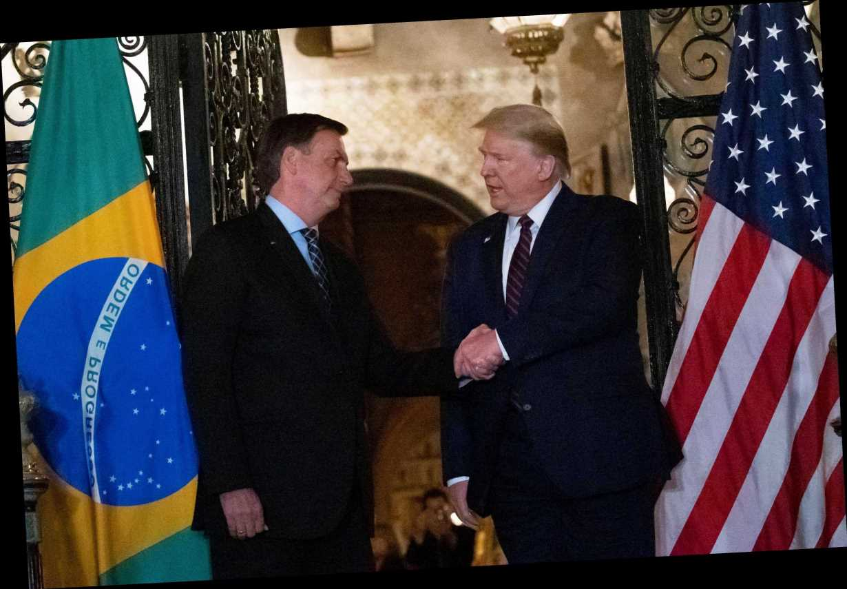 Brazilian President Jair Bolsonaro tests positive for coronavirus after shaking hands with President Trump, VP Pence – The Sun