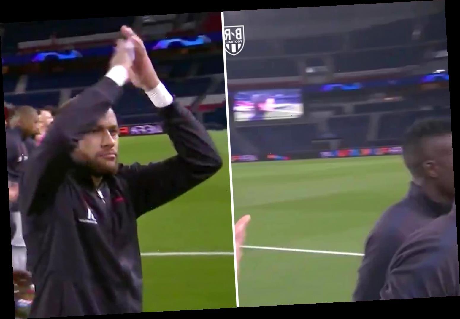 Neymar applauds empty stadium as PSG try to overturn Borussia Dortmund deficit behind closed doors – The Sun