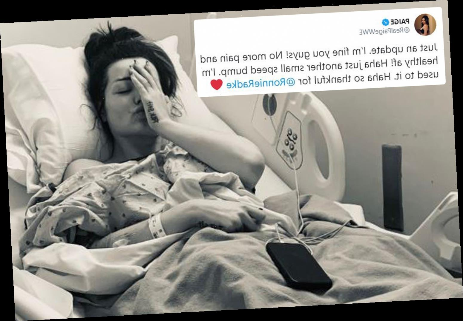 British WWE star Paige undergoes emergency surgery to remove an ovarian cyst – The Sun