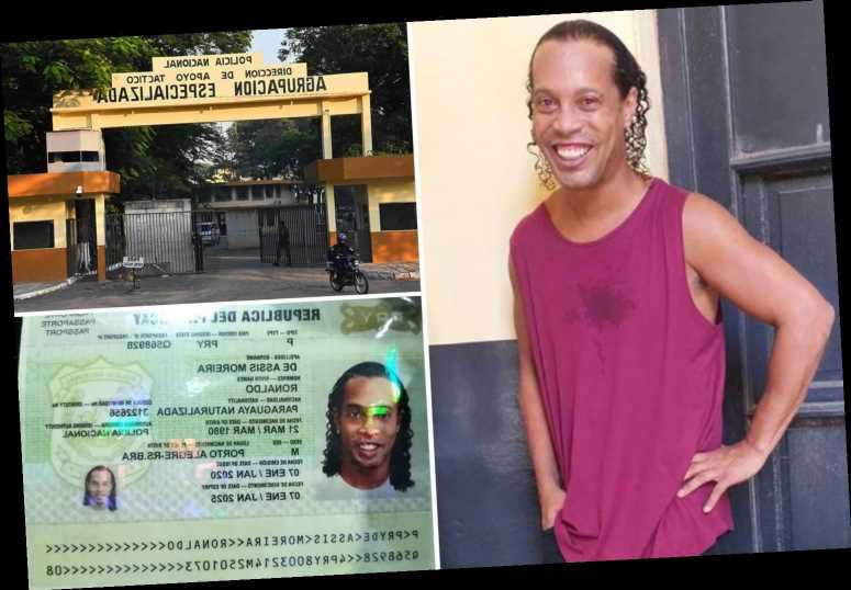 Ronaldinho pictured in jail cell as 'stupid' Brazil legend arrested for using fake passport to enter Paraguay – The Sun