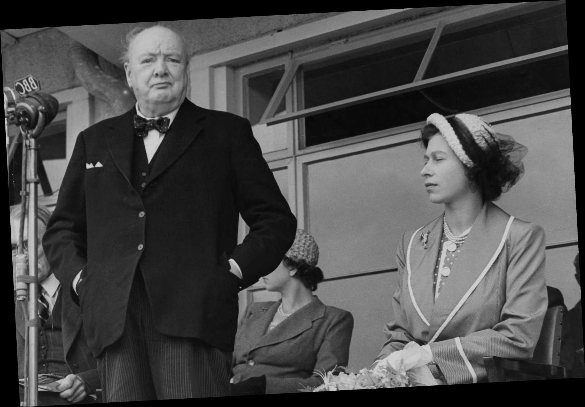 Winston Churchill cried 'but she's just a child' before first meeting The Queen at 25, historian claims