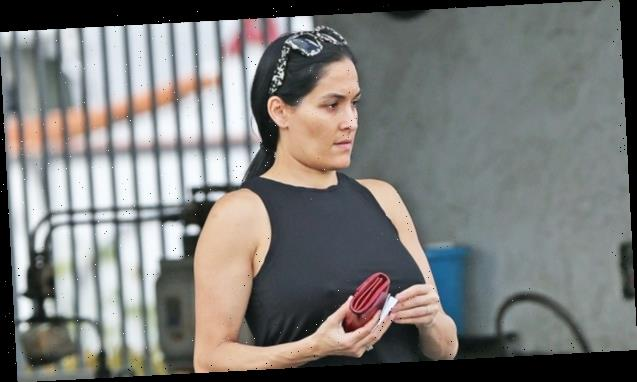 Nikki Bella Goes Makeup-Free While Showing Off Baby Bump In Tank Top On Grocery Store Run