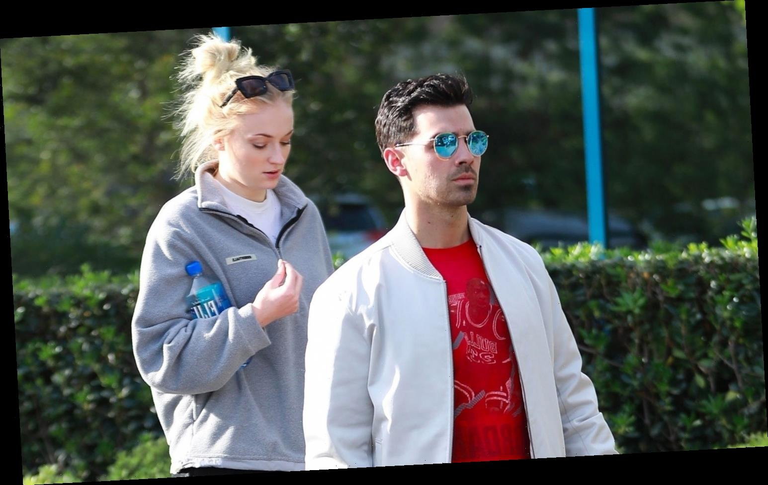 Joe Jonas Joins Wife Sophie Turner for Casual Thursday Outing