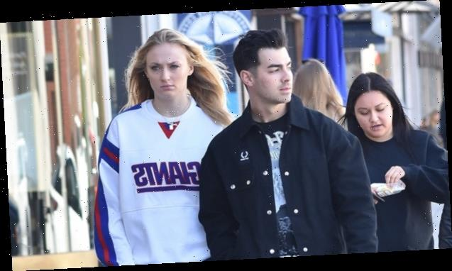 Sophie Turner Conceals Her Stomach In Baggy NY Giants Sweatshirt Amidst Pregnancy Reports