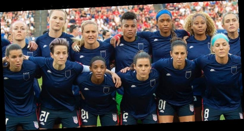 US Women's Soccer players are selling shirts that look like their warm-ups turned inside-out to honor their protest of unequal pay