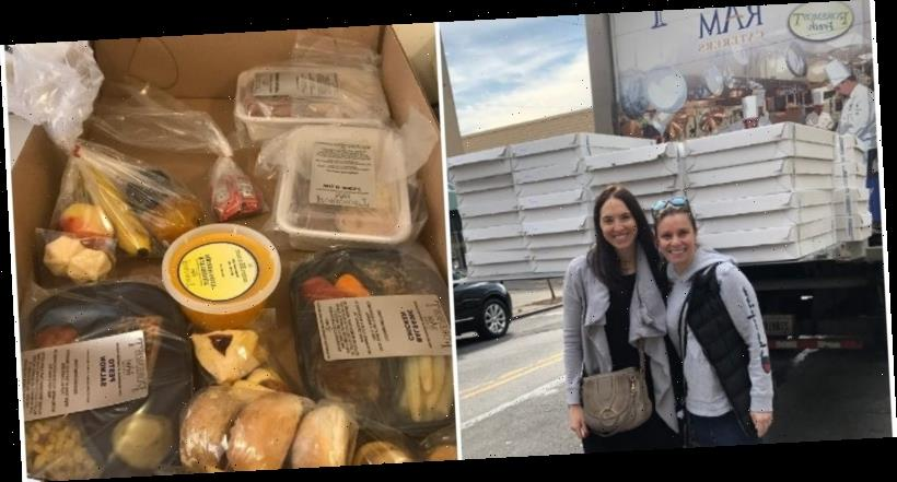 After coronavirus cancelled their daughter's bat mitzvah party, a family turned the food into meal deliveries for people in quarantine