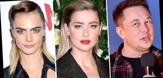 Elon Musk Denies Having a Threesome With Amber Heard, Cara Delevingne