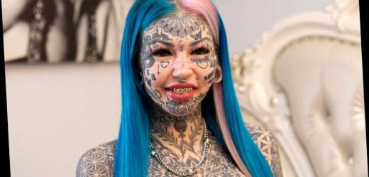 'Dragon girl' who spent £66k transforming body breaks down in tears after covering up tattoos as she hated her old look