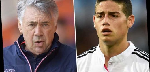 James Rodriguez to undergo Everton medical this week on £4m-a-year deal to reunite Real Madrid outcast with Ancelotti
