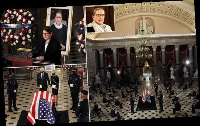 Pioneering Justice Ginsburg makes history again with U.S. Capitol…