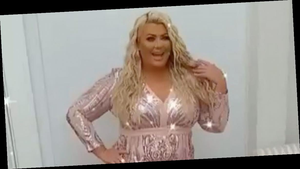 TOWIE's Gemma Collins flaunts weight loss in skintight bejewelled dress