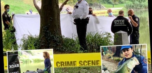 Horrified fisherman, 24, hooks human CORPSE in New York's Central Park – the third body found at landmark this month