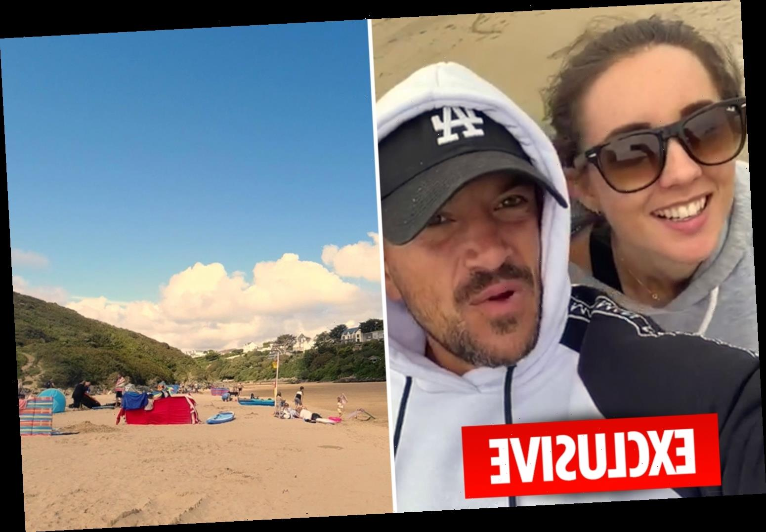 Peter Andre staggered that British beaches are so nice as Emily takes him to 'incredible' Cornwall