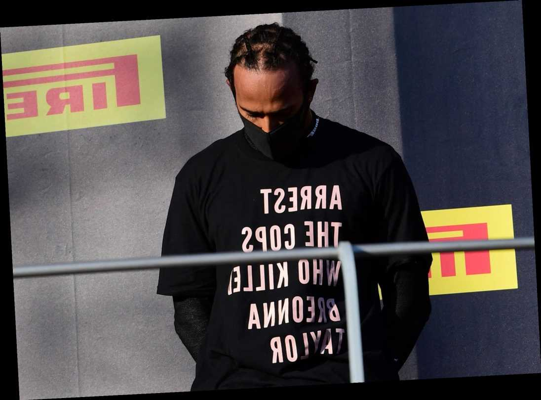 Lewis Hamilton BANNED from making another controversial Breonna Taylor T-shirt protest as he closes in on £120m contract