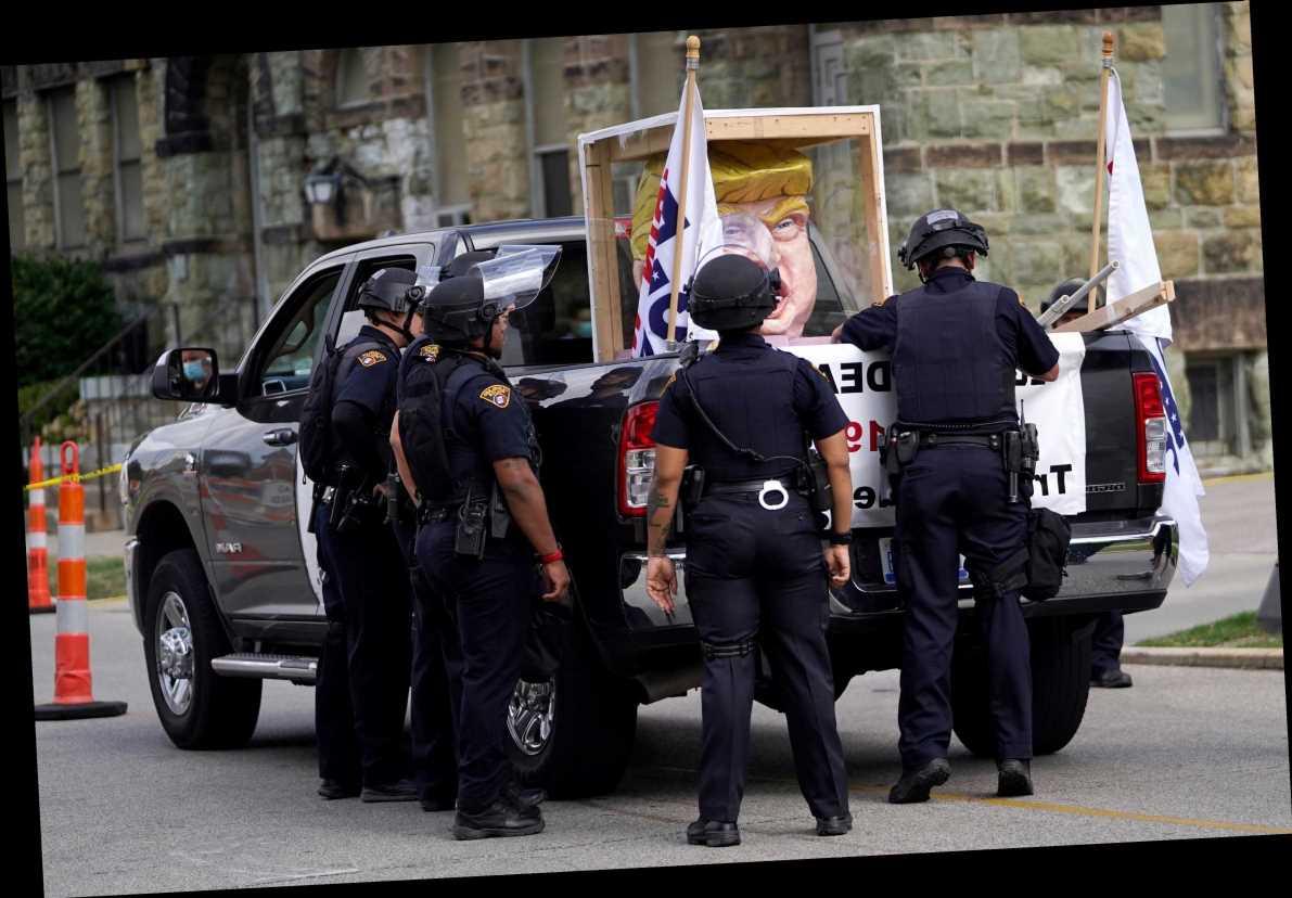Presidential debate 2020 – Cops swarm venue ahead of Trump vs Biden showdown fearing clashes between supporters