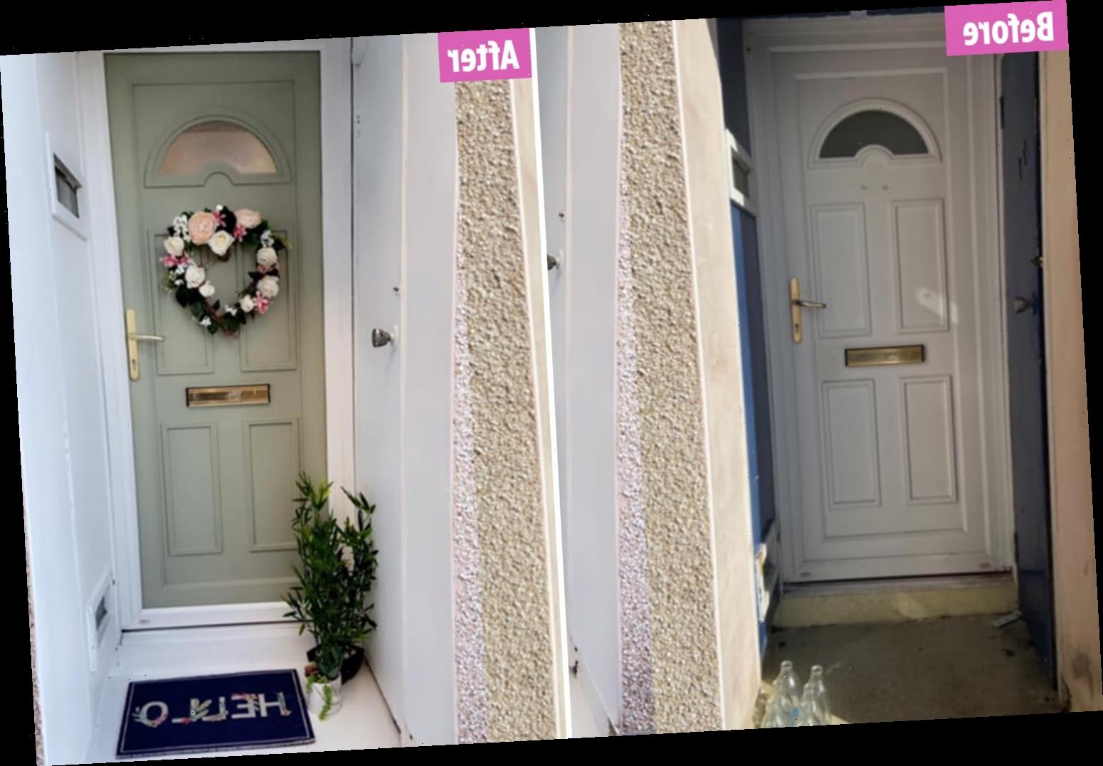 Woman reveals how she transformed her battered front door with £6 paint – and added £1000 to her home in the process