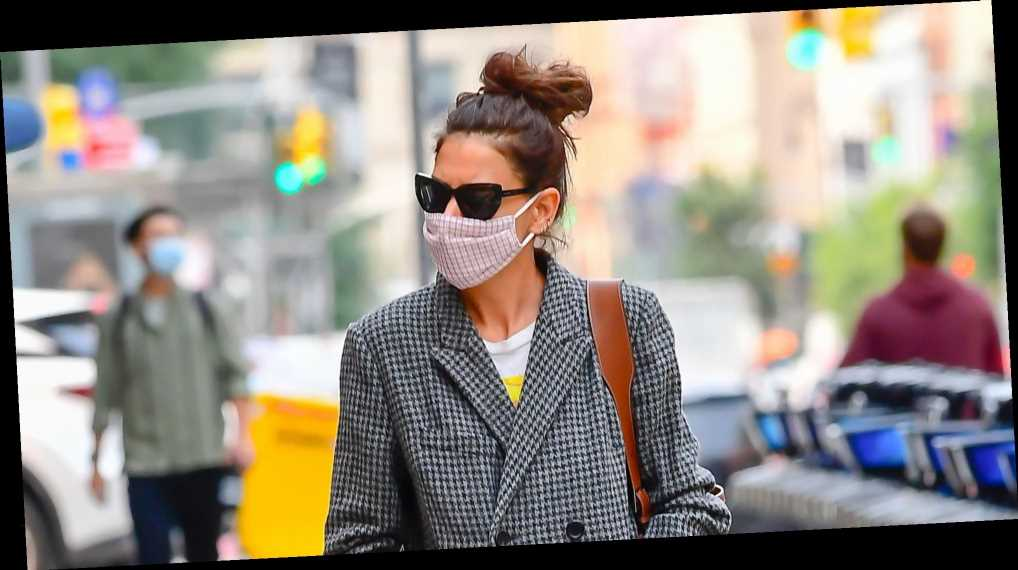 Katie Holmes Has Been Quietly Wearing This $6 Face Mask for Weeks