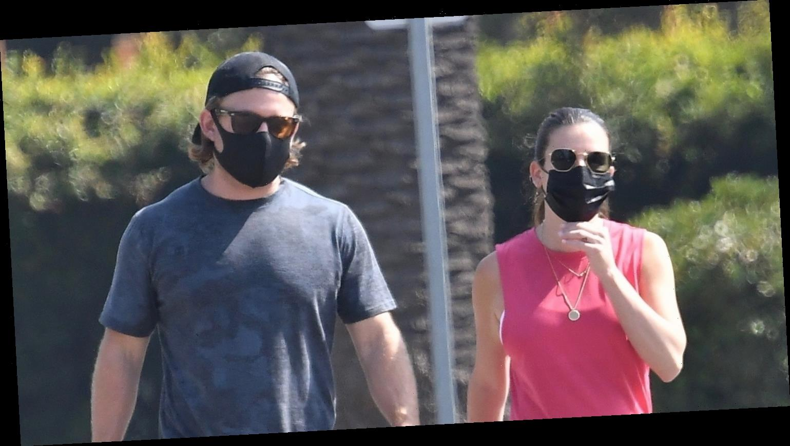 Lea Michele Gets in Some Fresh Air with Hubby Zandy Reich