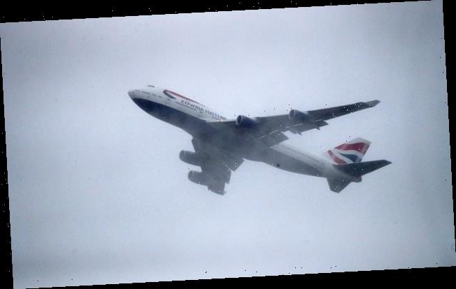 Two British Airways Boeing 747s take off from Heathrow for last time