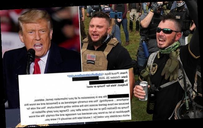 FBI investigates emails sent to voters claiming to be from Proud Boys