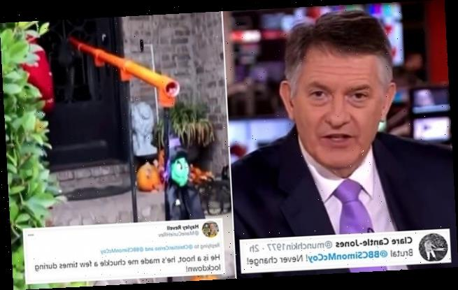 BBC newsreader Simon McCoy leaves viewers in hysterics after dig