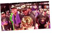 LeBron James Talks To NBA Title Trophy, And It Isn't Sweet Nothings