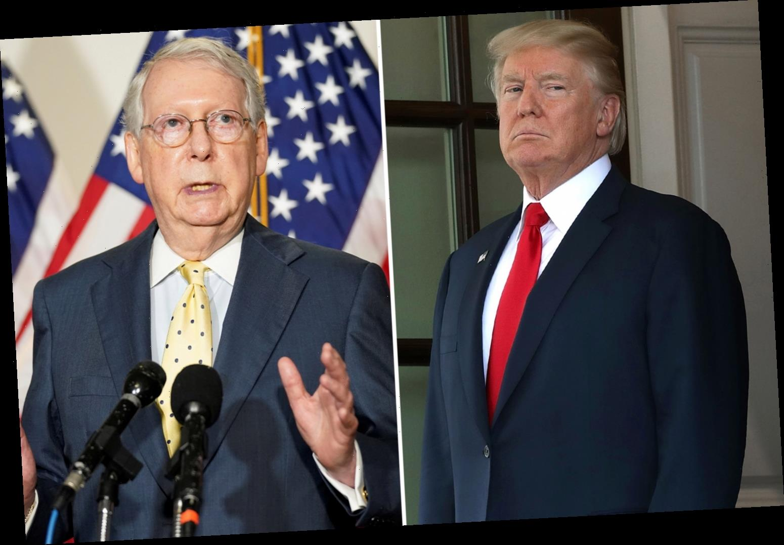 Mitch McConnell 'tells Trump NOT to make deal with Nancy Pelosi for new stimulus and $1,200 checks before election'