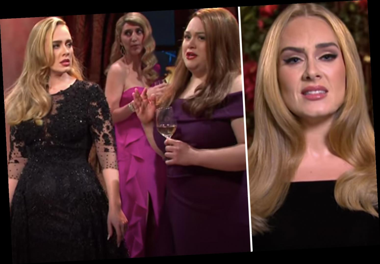 Adele jokes she's signed up for Love Island as she pokes fun at her divorce in Saturday Night Live sketch