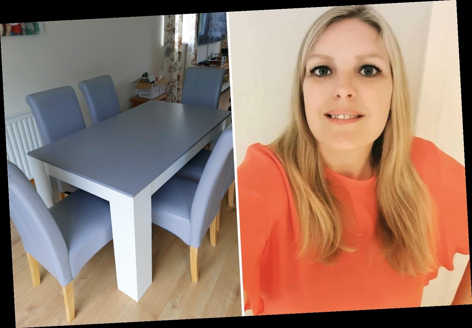 Savvy mum transforms old dining room furniture for just £50 by painting it – saving hundreds