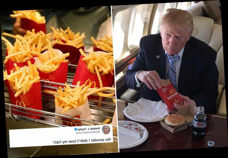 Trump says McDonald's fries are reason he 'didn't lose my hair' after study claims ingredient may prevent baldness