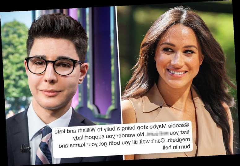 Meghan Markle biographer Omid Scobie shares vile messages telling him to 'jump off a bridge' he's been sent by trolls