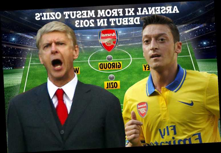 Where are Mesut Ozil's team-mates from 2013 Arsenal debut at Sunderland including Koscielny, Sagna, Wilshere & Flamini?