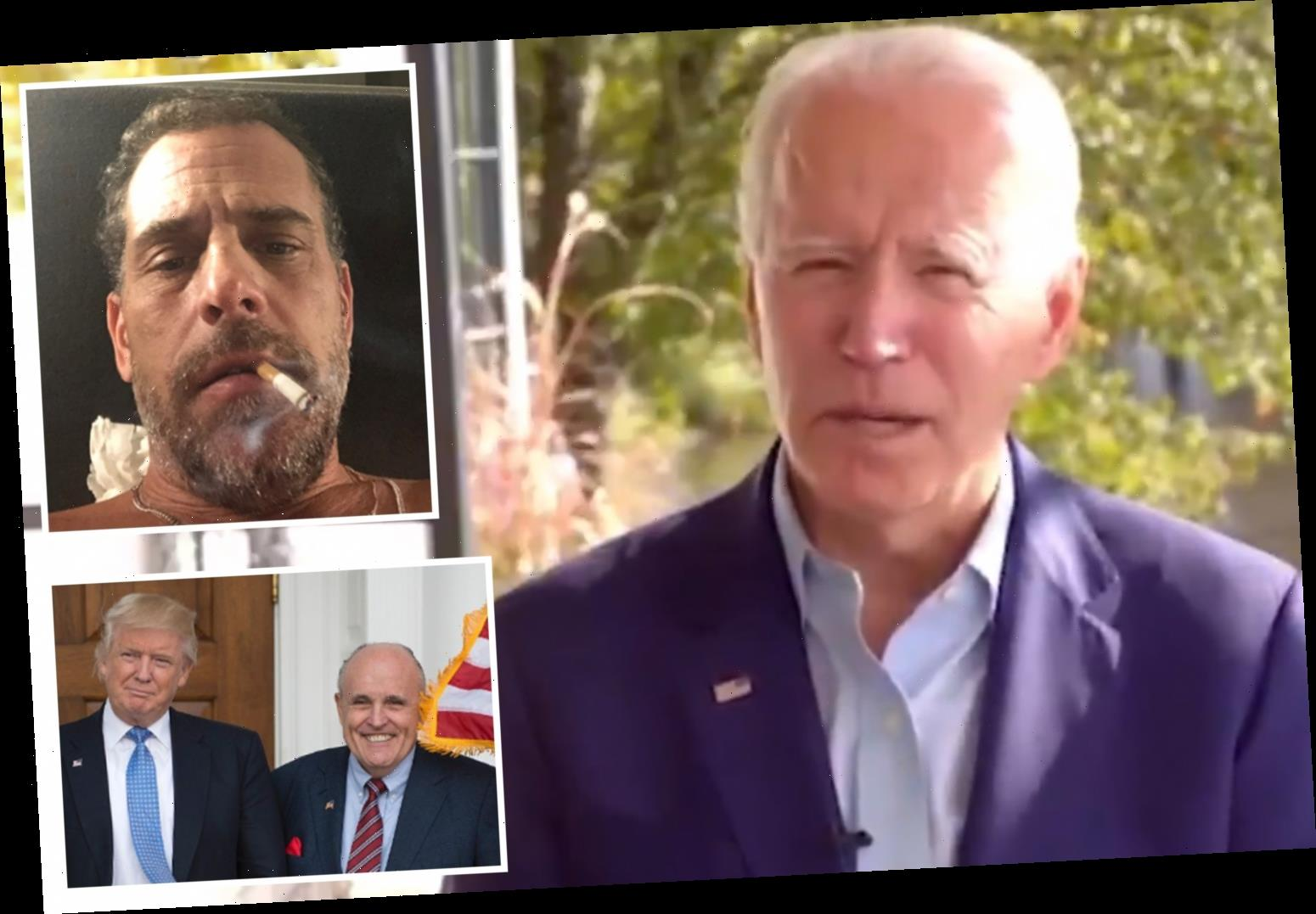 Joe Biden FINALLY responds to Hunter Biden laptop scandal and calls it a 'smear against his family' by Trump 'henchmen'