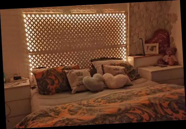 Woman shows off £60 light-up bed her husband made using cheap radiator boards – and people think it looks 'amazing'