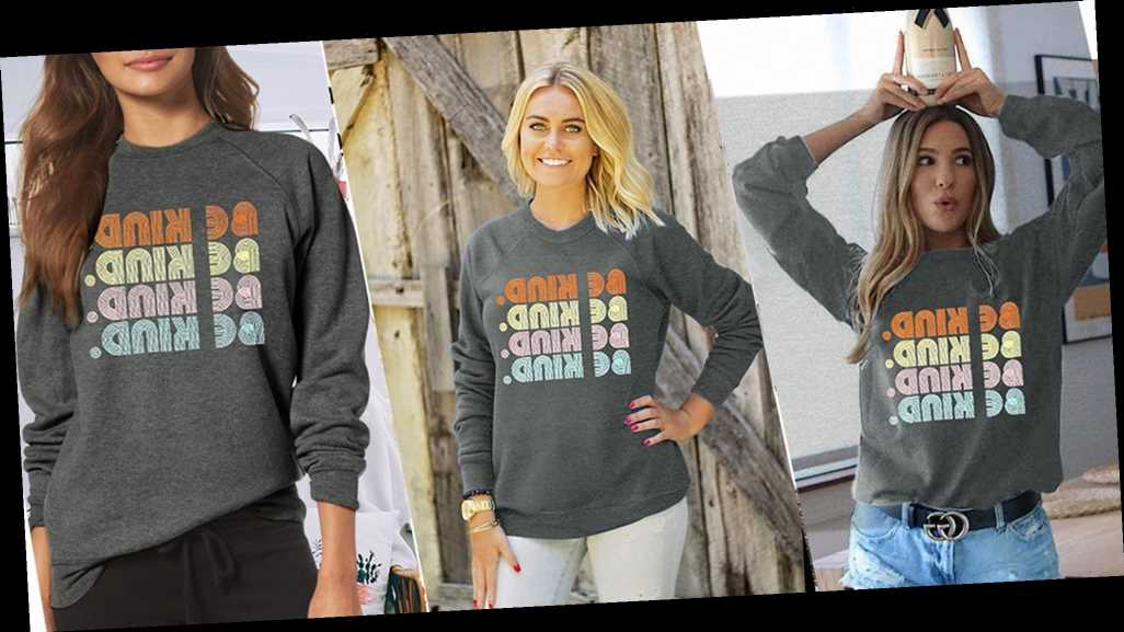 This Colorful Sweatshirt Is the Cutest Way to Spread Kindness
