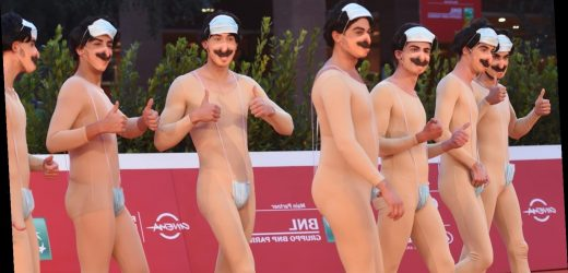 Eight Men Dressed as 'Borat' Walked the Red Carpet in Rome in Sacha Baron Cohen's Absence