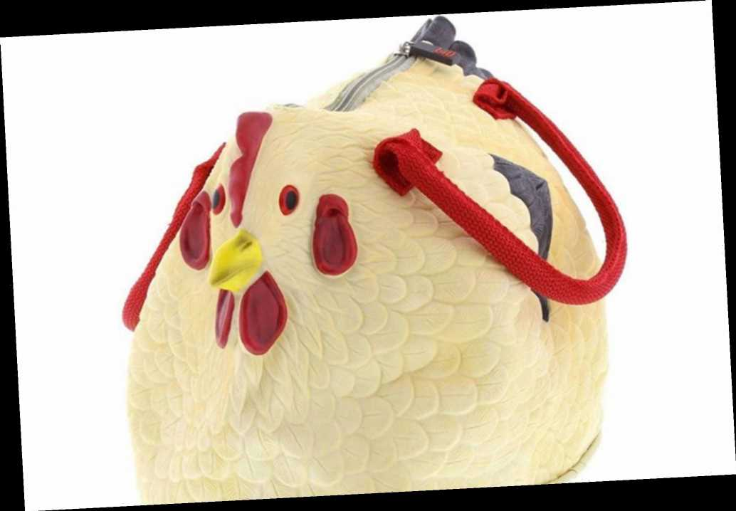 This season's hottest purse is a rubber chicken 'henbag'