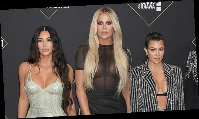 Kim, Kourtney & Khloe Kardashian Rock Tiny String Bikinis In Sexy Sister Pic On Private Island