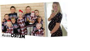 Mum who had 10 children in 10 years won't stop until she has a family of 14