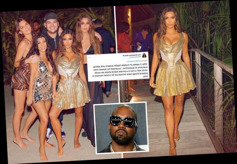 Kim Kardashian slammed for her 'disgusting display of wealth' after she brags about luxury 40th birthday without Kanye