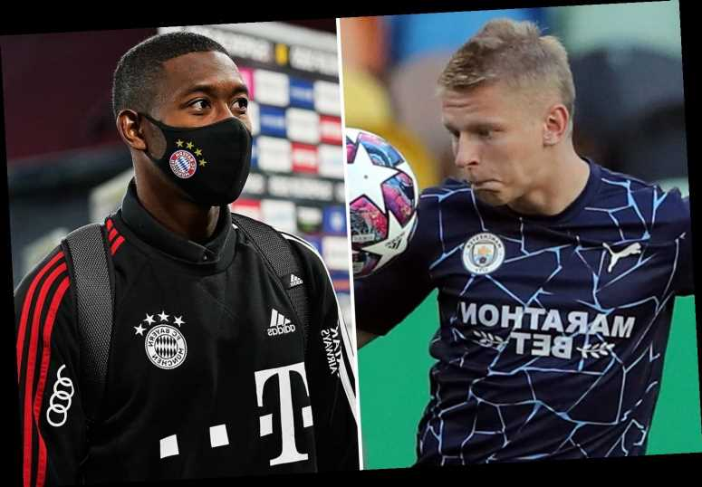 Man City facing left-back transfer blow with Zinchenko set to stay and Guardiola missing out on Alaba and Tagliafico