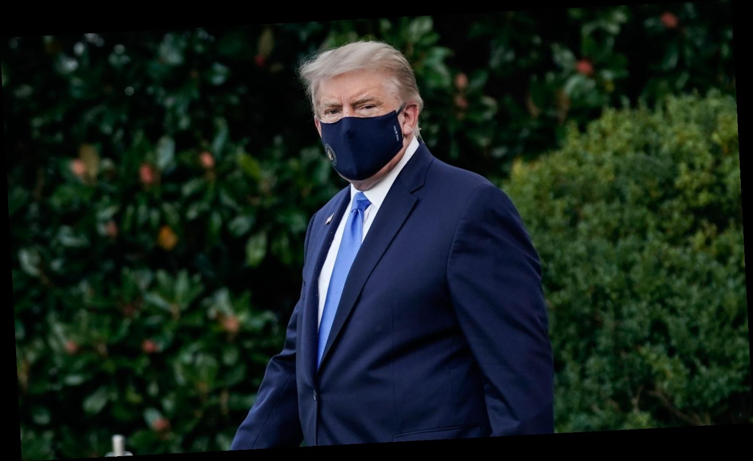 PHOTOS: Donald Trump Leaves White House for Hospital, Plus Sends Video Update on COVID-19 Battle