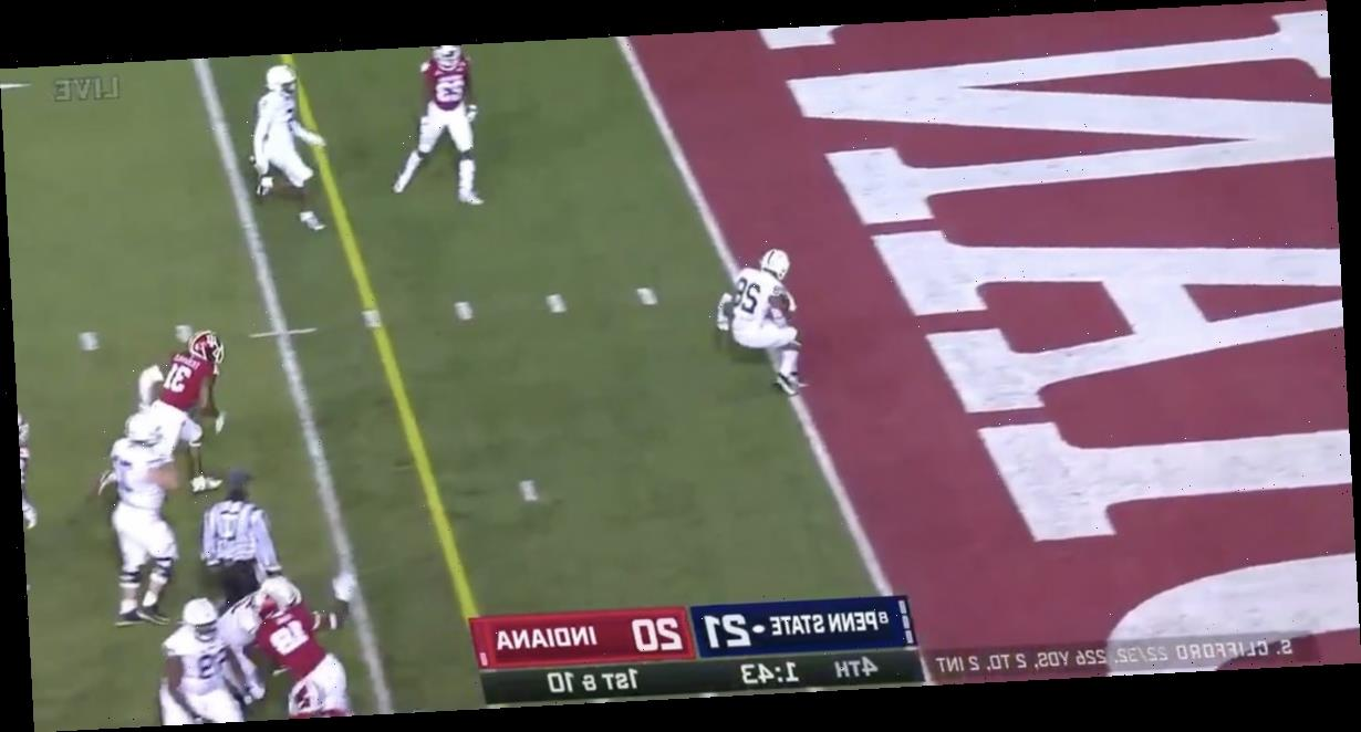 Penn State's heartbreaking loss to Indiana began when they accidentally scored a touchdown they didn't want