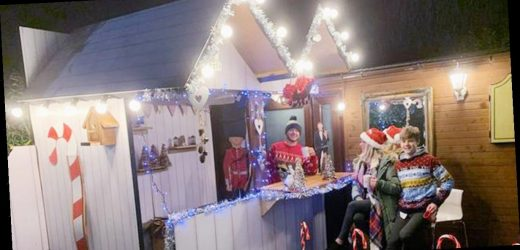 Dad uses DIY skills to bring Xmas Markets to his garden – and his family love it